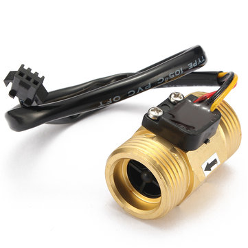 G3/4 Inch Liquid Water Flow Sensor Switch Copper Hall Effect Flow Meter Meter