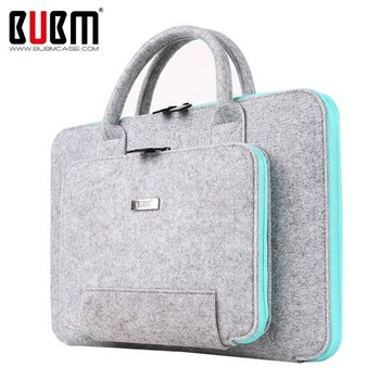 BUBM 15 pollici Mult-Colour Capelli Feltro Shockproof Resistance Spill Resistenza Laptop Pacchetto Borsa per Macbook