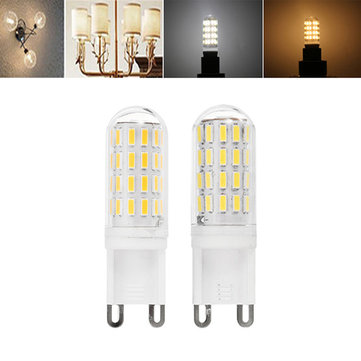 G9 2.5W SMD4014 52LEDs Warm White Pure White Light Bulb AC100-240V No Flicker