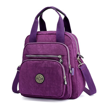Women Nylon Elegant Multipurpose Backpack Shoulder Bag