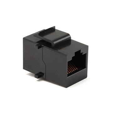 Гигабитный сетевой адаптер переходник экранированные панель штекер 1шт RJ45 женская cat6 8P8C