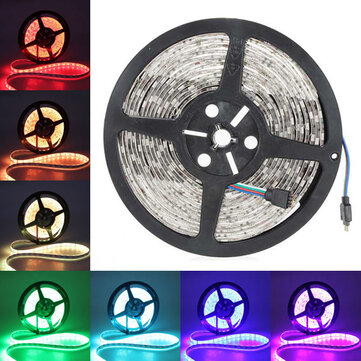 Buy 5M 5050 SMD RGB 300 LED Strip Light Waterproof IP65 12V DC for $9.57 in Banggood store