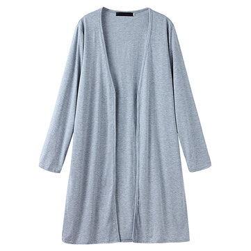 Buy Women Solid Color Long Sleeve Loose Casual Cardigan Outwears for $19.99 in Banggood store