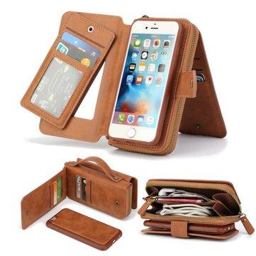 BRG Кожа PU Многофункциональный магнитный Съемные Zipper Wallet чехол для iPhone 7 Plus 5.5 дюймов