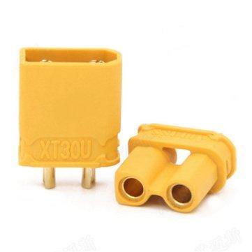 Amass XT30U 2 mm conector macho de enchufe hembra y 1 par