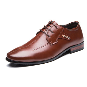 Men Hand Stitching Genuine Leather Business Formal Shoes