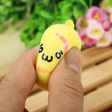 Blando 4.5cm juguetes lenta sensibilización emoji kawaii simulan pan del encanto del teléfono decoración correas y estaran