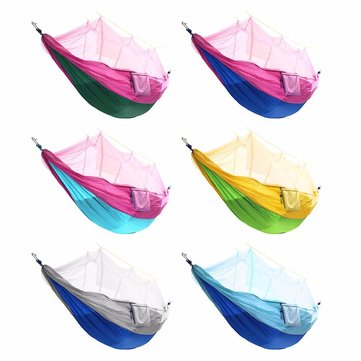 Draagbare Double Mosquito Net Hangmat Swing Bed 2 Persoon Hangende Slaapbed Reis Camping