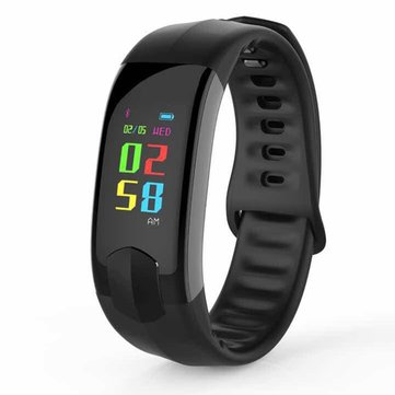 Buy Bakeey HI11 Color Screen Blood Pressure Heart Rate Monitor Fitness Tracker Bluetooth Smart Wristband for $33.99 in Banggood store