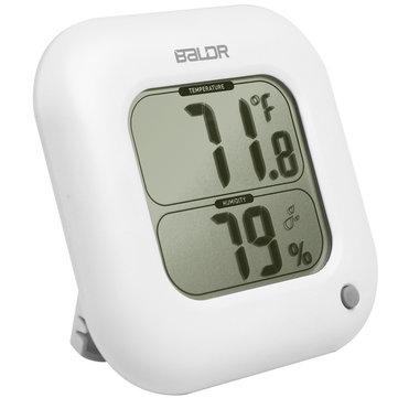 BALDR B0323H Digital higrômetro quadrado termômetro temperatura interior medidor de umidade mesa de parede LCD Display