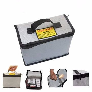 YDL2043 LiPo Battery Portable Explosion Proof Safety Bag With Zipper 215x155x115mm