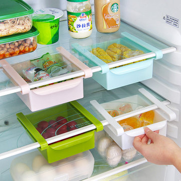 Honana Plastic Kitchen Refrigerator Fridge Storage Rack Freezer Shelf Holder Kitchen Organization
