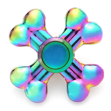 Colorful Rotating Four Leaves Fidget Hand Spinner ADHD Autism Reduce Stress Focus Attention Toys