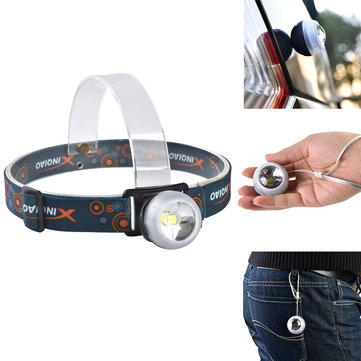 XANES XQ-111 3W LED + Rouge Lumière LED Bicyclette phare Outdoor Sports HeadLamp 4 Modes réglable Emergency Lamp