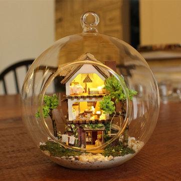 CuteRoom 포레스트 드림 아일랜드 DIY 하우스 B-001 유리 공 LED 빛 수집 장난감 선물 장식
