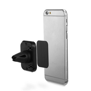 Buy Rectangular Magnetic Strong Suction Shockproof Car Air Vent Phone Holder Outlet Mount for Phone GPS for $5.11 in Banggood store