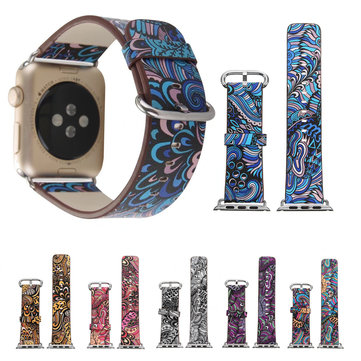 Colorful Leather Watch Band Strap 38mm for Apple Watch iWatch Series 3 2 1