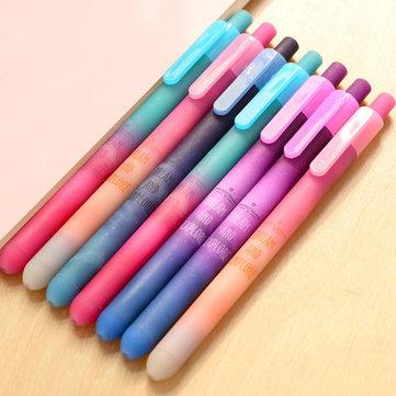 Creative Beautiful Starry Sky Gel Pen 0.5 mm Black Ink Pen Star Stationery Pen Office School Supplie