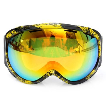 Unisex Anti-fog UV Dual Lens Winter Racing Outdoor Snowboard Ski Goggles Sunglasses CRG98-5A