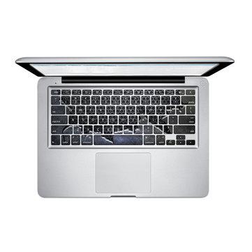 Pag frammentarie in lamiera d'acciaio pvc tastiera bolla libera autoadesivi decalcomania di macbook pro 13 15 cm