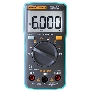 ANENG AN8001 True Multi Digital Meter Rms 6000 Counts Backlight AC / DC Ampmeter Volt Meterr Ohm Tester