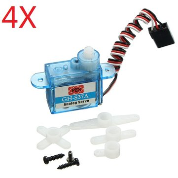 4X 3.7g Micro Analog Servo GH-S37A For RC Airplane Helicopter