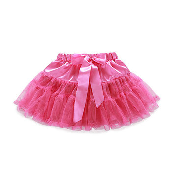 Lovely Pure Color Bow Knot Mini Skirt For Baby Girls