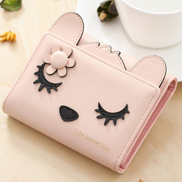 Vrouwen PU Leather Cute Coin Bag Fox Form Wallet Purse