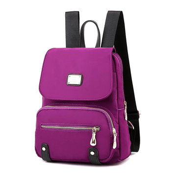 Women Nylon Mummy Backpack Casual Bright Color Shoulder Bag