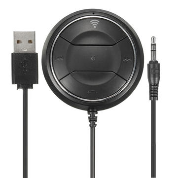 Wireless Bluetooth Car Kit Audio NFC Music Receiver Adapter AUX+Dual USB Charger