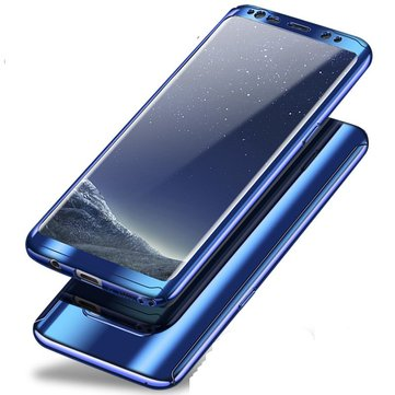 Bakeey Enchapada Carcasa Frontal+Trasera de PC de Cuerpo Completo de 360°+ Protector de Pantalla Suave Para Samsung Galaxy S8/S8 Plus