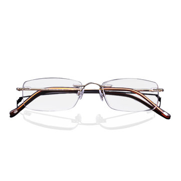 LianSan®Titanium Portable Anti-fatigue Reading Glasses Frameless Resin Alloy Presbyopic Glass L8085
