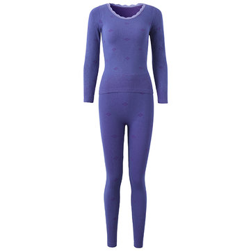 Vrouw Comfy Soft Ademend Modal Body Shaping Slaapkleding Thermal Underwear Suit