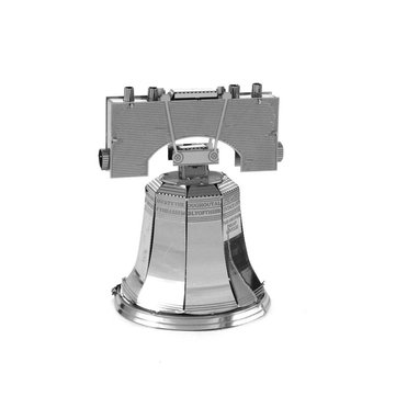 Aipin DIY 3D metalen puzzel Stainless Steel Model Liberty Bell Sliver For Kids Kinderen Gift Toys