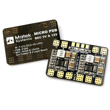 Matek Micro PDB With 5V 12V Dual BEC Output for RC Drone FPV Racing