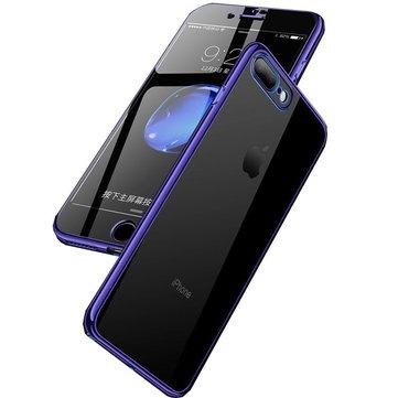 BakeeyPlatingFullBodyvoor-& achterkant Soft TPU-koffer met gehard glasfolie voor iPhone 8/8 Plus/7/7 Plus