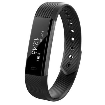 ID115HR Moniteur de Rythme Cardiaque Smart Bracelet Tracker de Santé Physique Compteur de Pas Montre-Bracelet Pour Android IOS