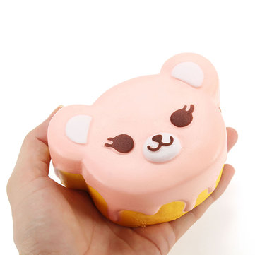 NO NO Squishy Bear Cake 11cm Slow Rising With Packaging Collection Gift Decor Soft Squeeze Toy