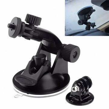 Car Wind Shield Vacuum Suction Cup Mount Tripod Adapter for GoPro hero4 3 SJCAM SJ4000 SJ5000 SJ6000