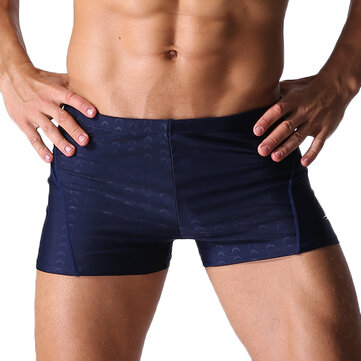 Mens Sexy Beach Swimming Quick Drying Trunks Solid Color Waterproof Spa Shorts