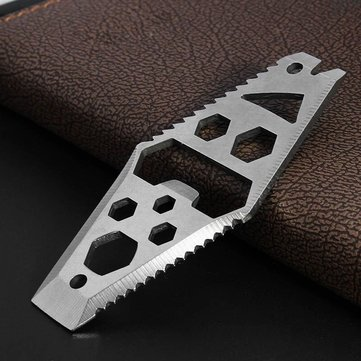 AOTDDOR Multifunction Stainless Steel EDC Tool Wrench Opener Diamond Keyring