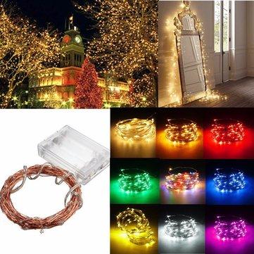 4m 40 LED fio de cobre cadeia de fadas bateria luz alimentado impermeáveis natal festa decoração