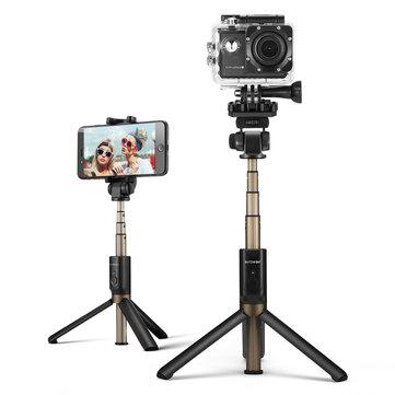 BlitzWolf BW-BS3 스포츠 다기능 3 in 1 Bluetooth 삼각대 Selfie 스틱 스포츠 카메라 폰용