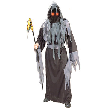 Mens Ghost Avenger Costumes Halloween Clothing (One-piece Hooded Robe+Belt)