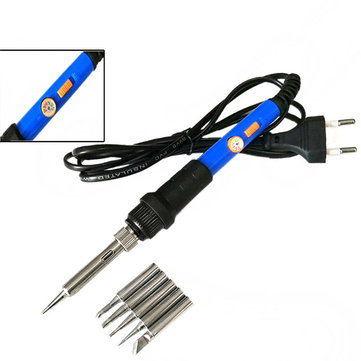 60W 220V/110V Temperature Adjustable Electric Welding Solder Soldering Iron Handle Heat Pencil Tool