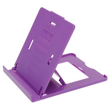 Plastica del supporto del basamento pieghevole regolabile per tablet viola