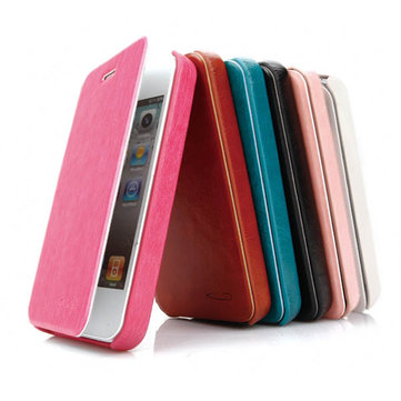 KLD Enland Series PU Leather Side Flip Case Cover For iPhone 4 4S