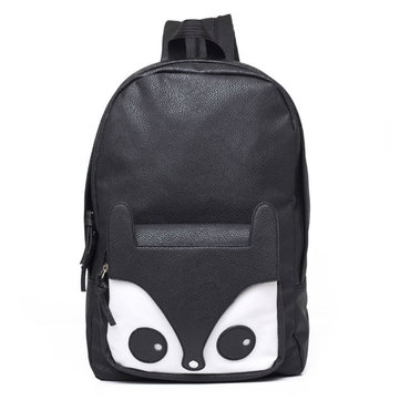 Fashion Cute Fox Black/Brown Women Backpack Girls Students ...