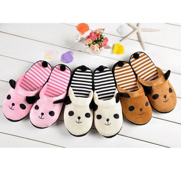 Coral Velvet Cute Soft Anti-slip Panda Home Slippers Shoes