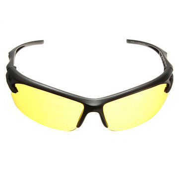 Night Vision UV400 Driving Riding Glasses Sunglasses Yellow Lens